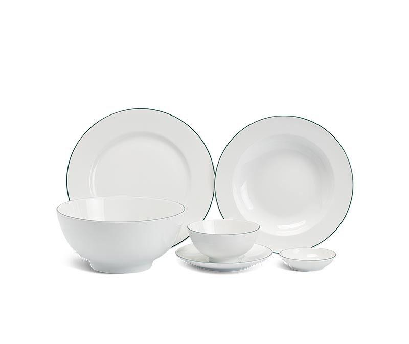 Bộ bàn ăn Minh Long, Bộ bàn ăn Minh Long Camellia Chỉ Xanh Dương
