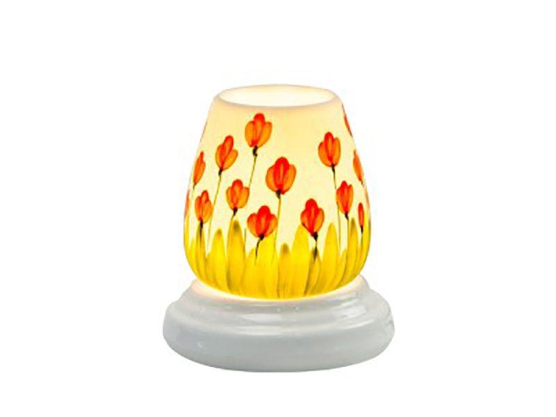 Đèn xông tinh dầu vẽ hoa tulip – Gốm sứ Bát Tràng