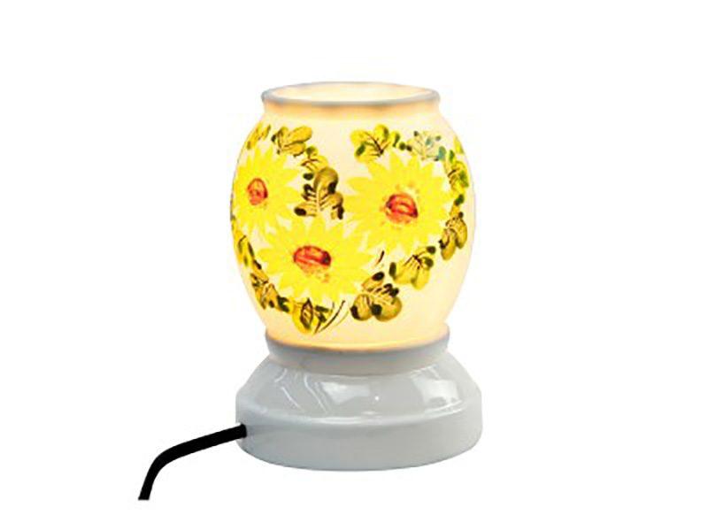 Đèn xông tinh dầu vẽ hoa S2 – Gốm sứ Bát Tràng
