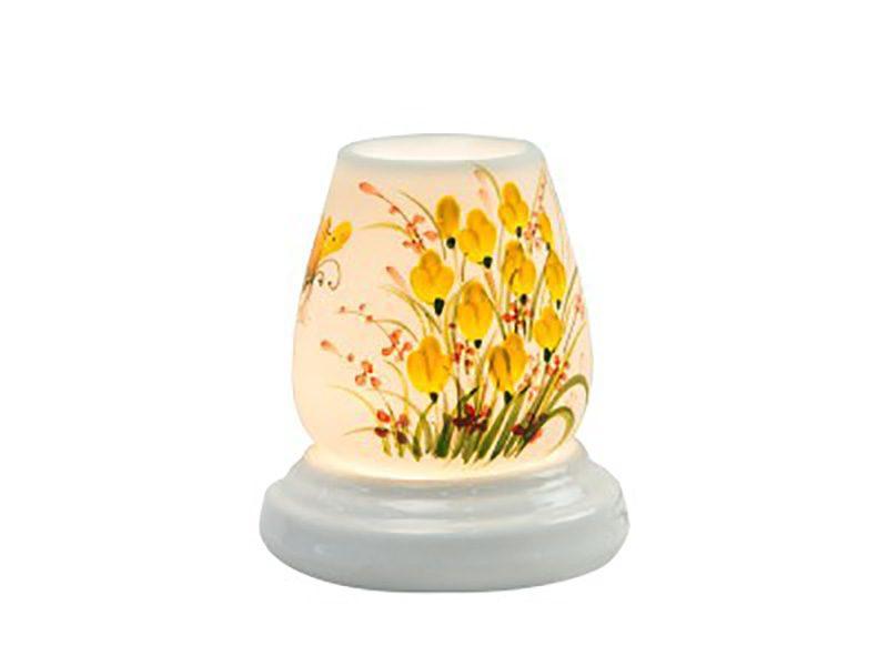Đèn xông tinh dầu vẽ hoa tulip S1 – Gốm sứ Bát Tràng
