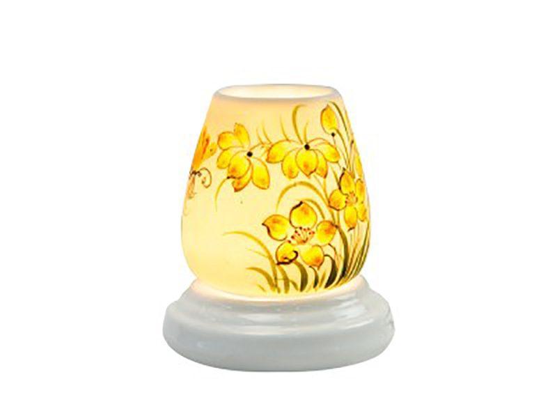 Đèn xông tinh dầu vẽ hoa S5 – Gốm sứ Bát Tràng