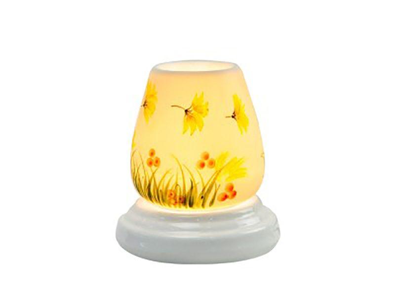Đèn xông tinh dầu vẽ hoa S6 – Gốm sứ Bát Tràng