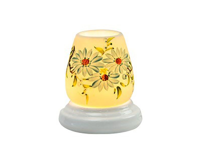 Đèn xông tinh dầu vẽ hoa S7 – Gốm sứ Bát Tràng