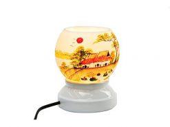 Đèn Xông Tinh Dầu Bát Tràng – Gà Trống -Tiêu Kê- H52cm