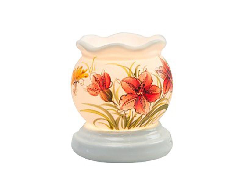 Đèn xông tinh dầu vẽ hoa cổ loe S1 – Gốm sứ Bát Tràng
