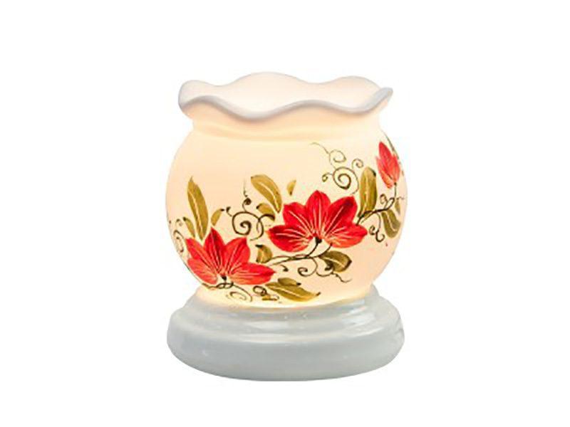 Đèn xông tinh dầu vẽ hoa cổ loe S5 – Gốm sứ Bát Tràng