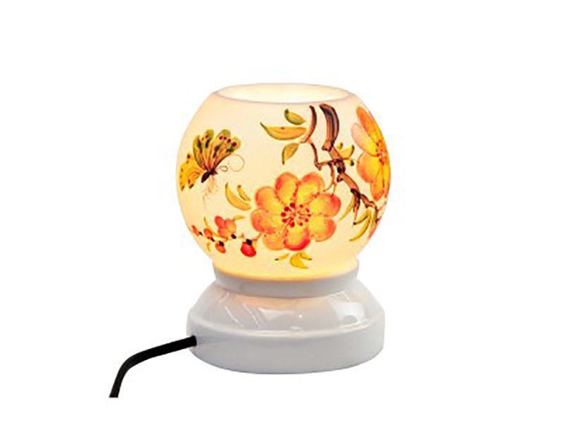Đèn xông tinh dầu vẽ bướm hoa – Gốm sứ Bát Tràng