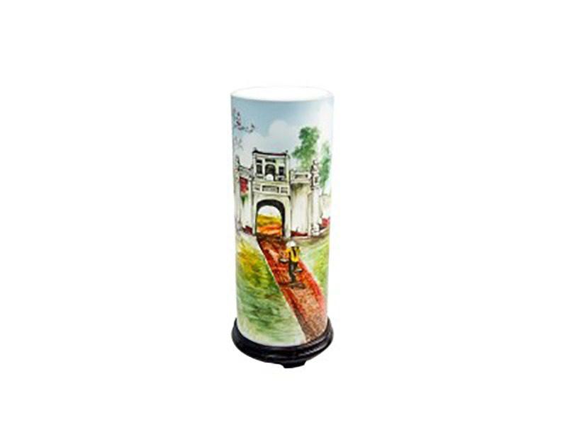 Đèn xông tinh dầu ống trúc size lớn – Gốm sứ Bát Tràng