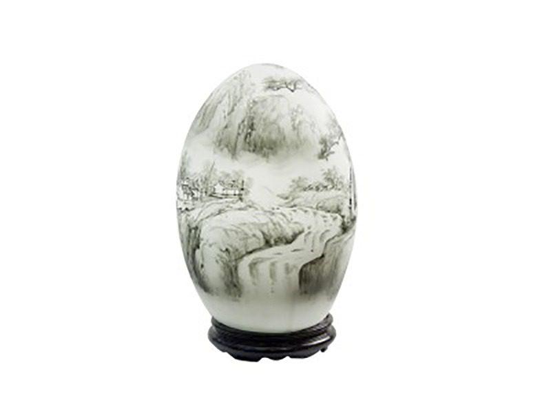 Đèn xông tinh dầu vẽ dòng sông – Gốm sứ Bát Tràng