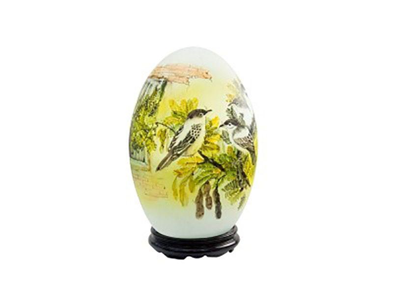 Đèn xông tinh dầu vẽ chim sẻ S2 – Gốm sứ Bát Tràng