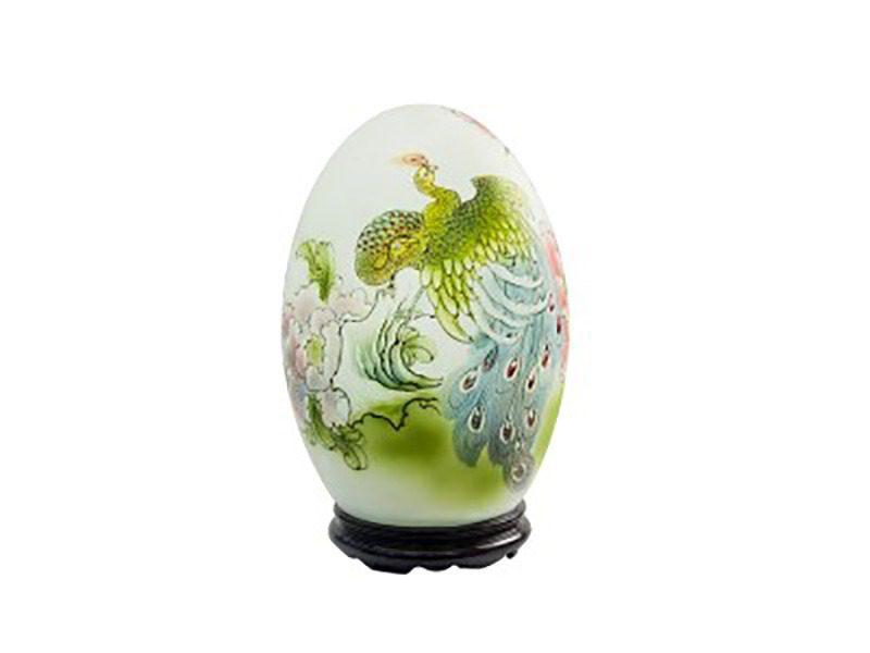 Đèn xông tinh dầu vẽ chim công – Gốm sứ Bát Tràng