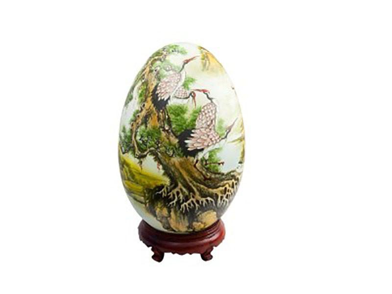 Đèn xông tinh dầu vẽ chim hạt – Gốm sứ Bát Tràng