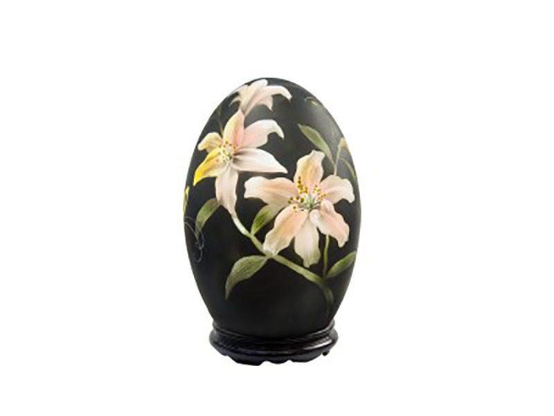 Đèn xông tinh dầu vẽ hoa Ly – Gốm sứ Bát Tràng
