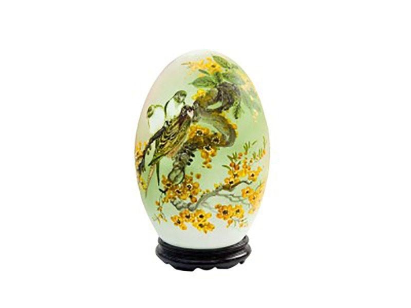 Đèn xông tinh dầu vẽ chim sẻ S1 – Gốm sứ Bát Tràng