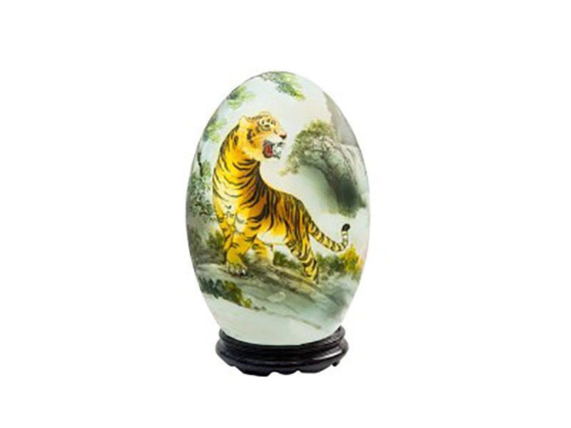 Đèn xông tinh dầu vẽ con Hổ – Gốm sứ Bát Tràng