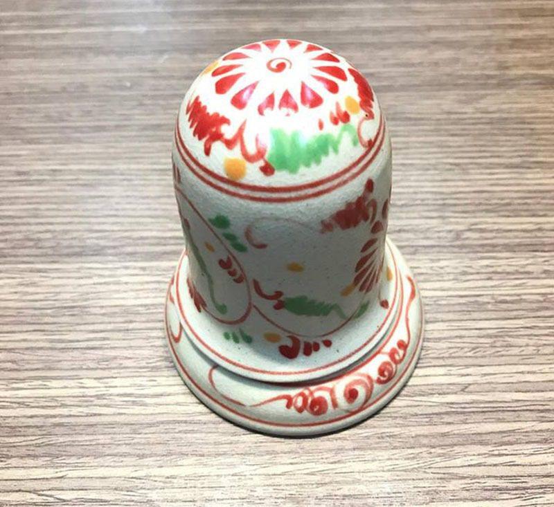 Ống Tăm Bát Tràng Tam Thái Hoa Cúc Đỏ