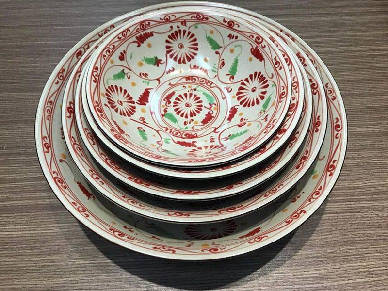 Tô Loe Bát Tràng Tam Thái Hoa Cúc Đỏ