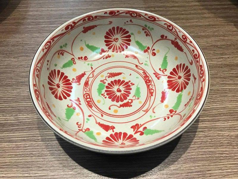 Tô Mỳ Bát Tràng Tam Thái Hoa Cúc Đỏ