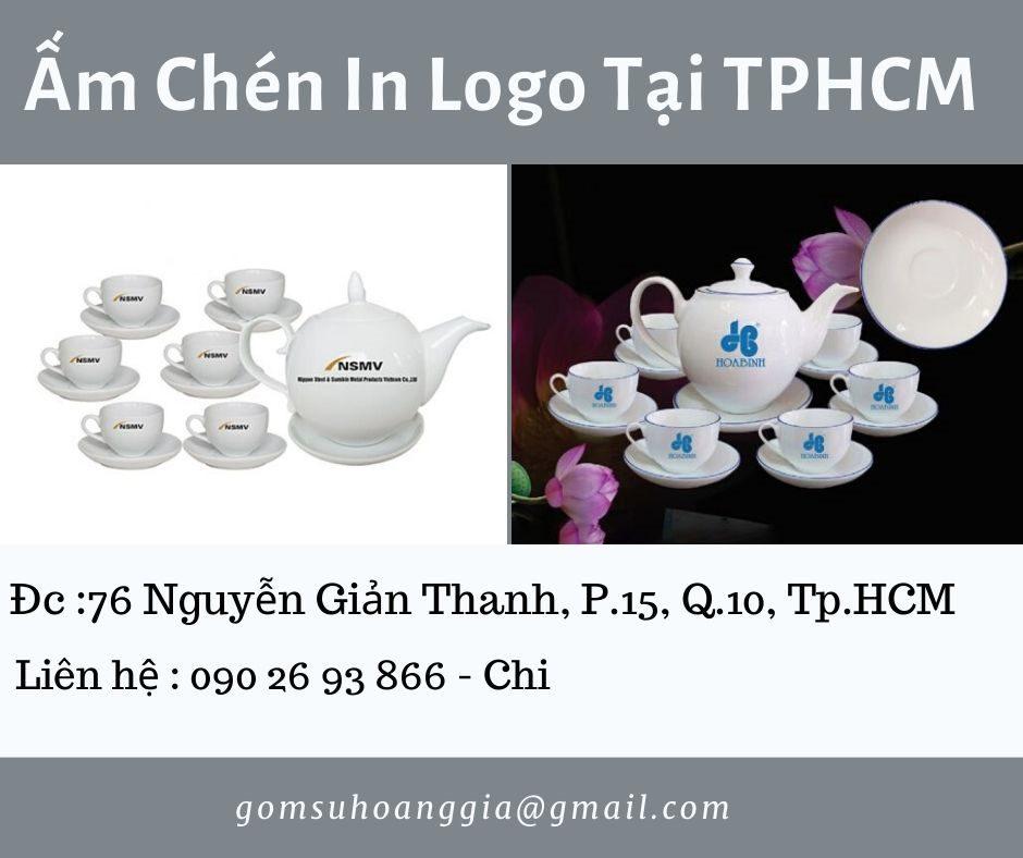 Bộ Trà Bát Tràng Dáng Minh Long Giá In Logo Viettel