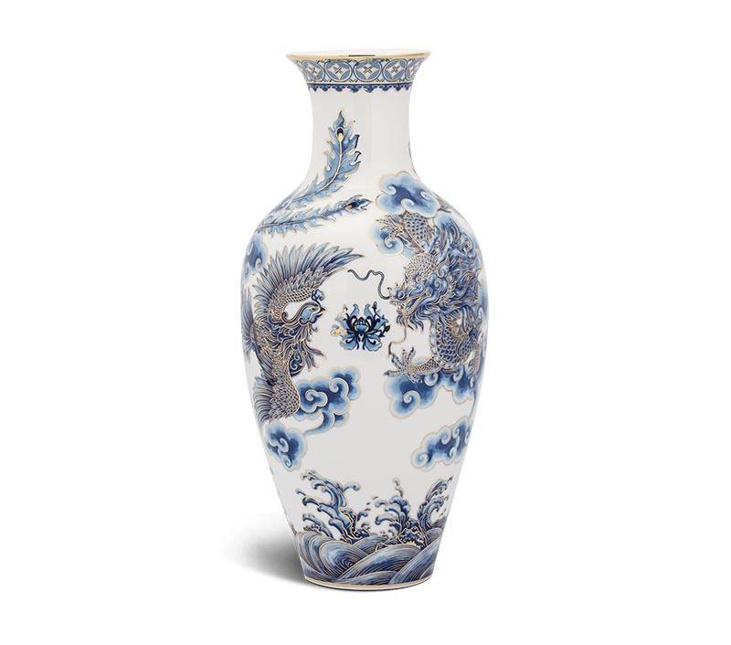 Bình hoa Minh Long Vẽ Tứ Linh – 40cm