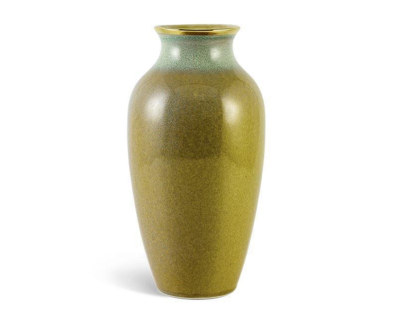 Bình hoa Minh Long hỏa biến – Xanh Vân Ngọc 5 – 27 cm