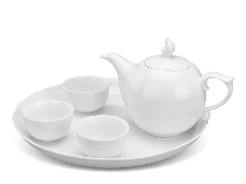Bộ trà Minh Long, Bộ trà Minh Long Mẫu Đơn IFP - Trắng Ngà