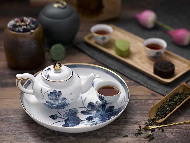 Bộ trà Minh Long, Bộ trà Minh Long Jasmine Sen Vàng