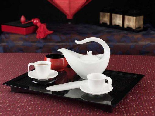 Bộ trà Minh Long , Bộ trà Minh Long Anh Vũ Trắng Ngà