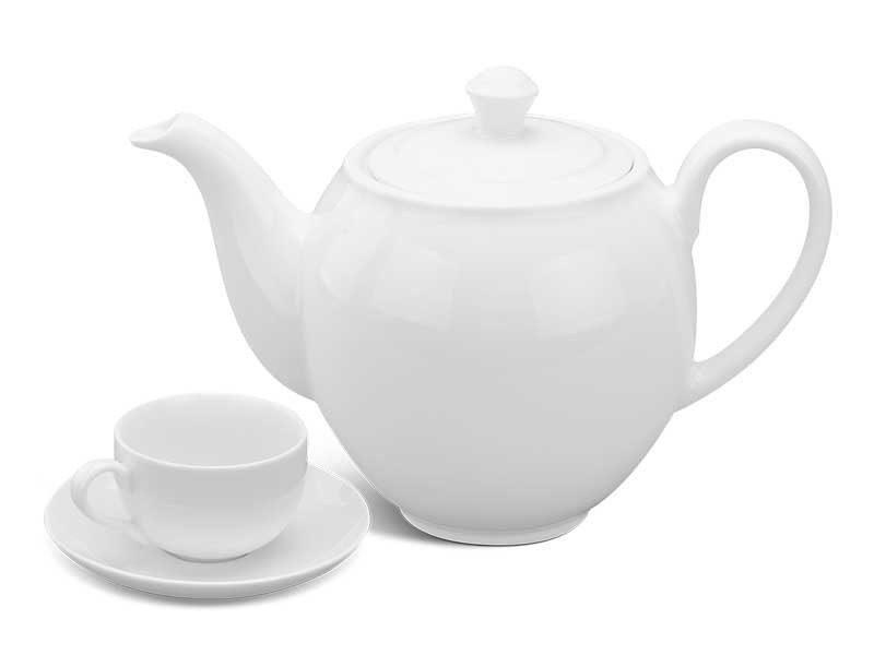 Bộ trà Minh Long Camellia Trắng 0.5L