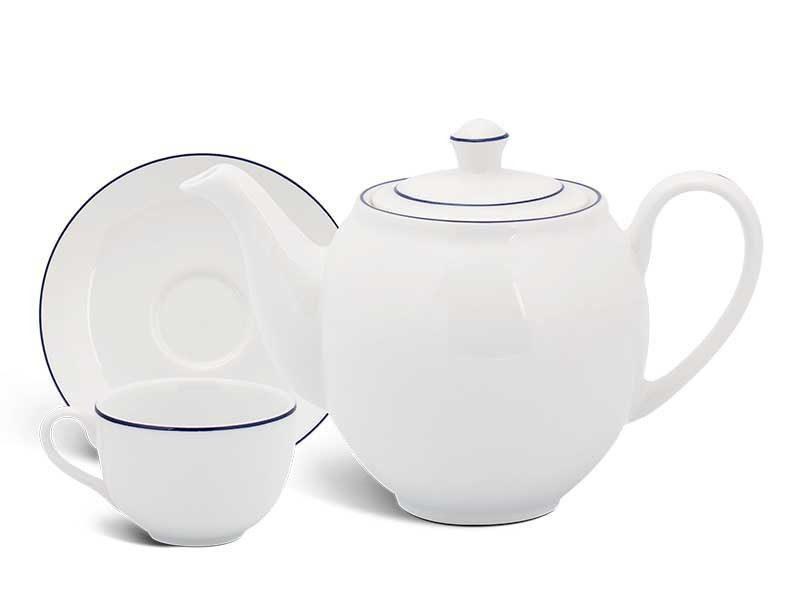 Bộ trà Minh Long Camellia Chỉ Xanh Dương 0.5L