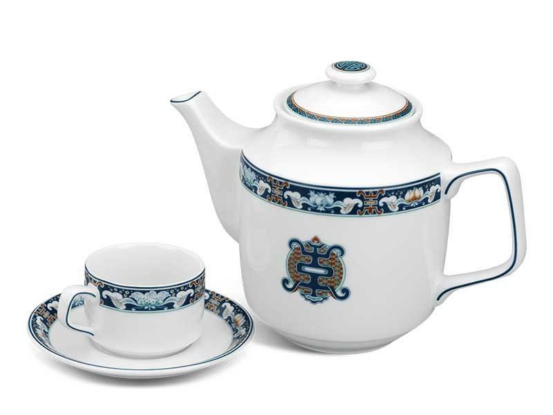 Bộ trà Minh Long Jasmine Phước Lộc Thọ 0.7L