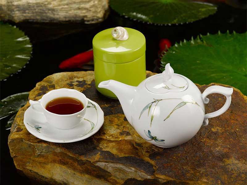 Bộ trà Minh Long Mẫu Đơn IFP Thanh Trúc 0.7L