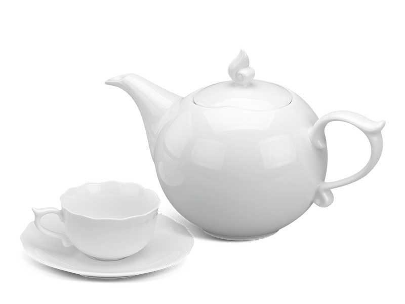 Bộ trà Minh Long Mẫu Đơn IFP Trắng Ngà 0.7L