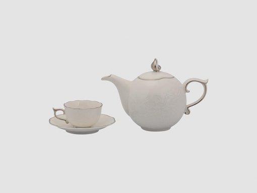 Bộ trà Minh Long, Bộ trà Minh Long Sen IFP Chỉ Bạch Kim