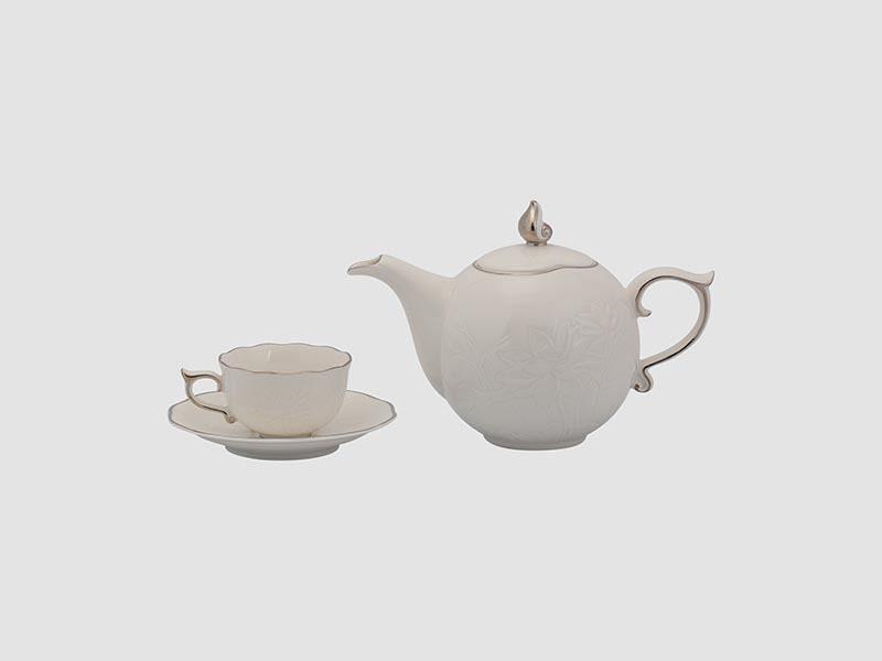 Bộ trà Minh Long Sen IFP Chỉ Bạch Kim 0.7L