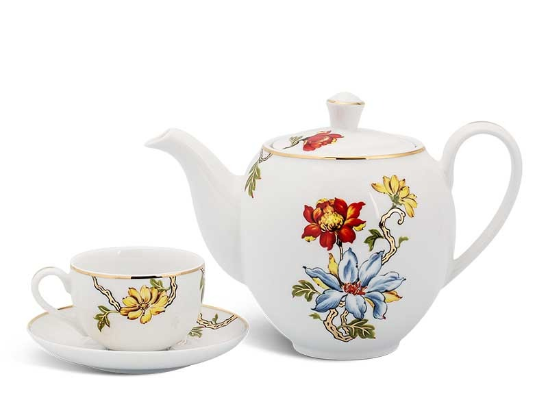 Bộ trà Minh Long Camellia Cát Tường 0.8L