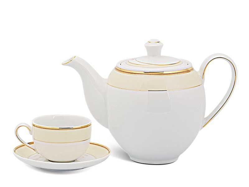 Bộ trà Minh Long Camellia Hương Biển Kem 0.8L