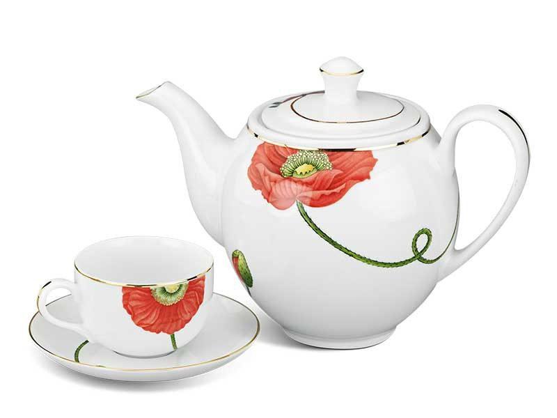 Bộ trà Minh Long Camellia Kết Duyên 0.8L