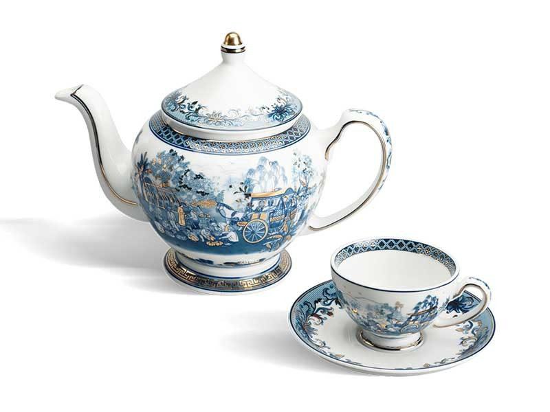 Bộ trà Minh Long Hoàng Cung Hồn Quê Vàng 0.8L