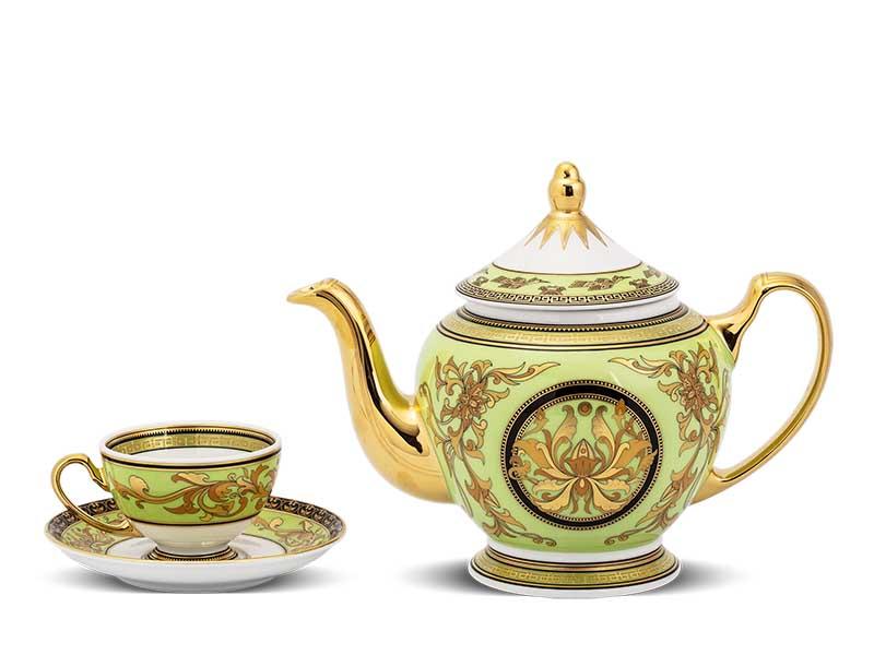 Bộ trà Minh Long Hoàng Cung Thiên Hương (Xanh Lá) 0.8L