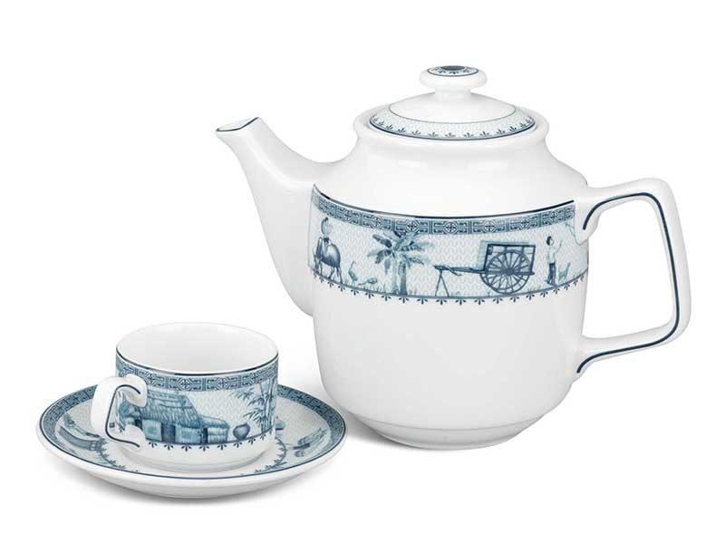 Bộ trà Minh Long Jasmine Thôn Dã 0.7L