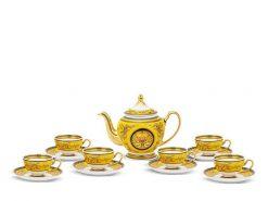 Bộ trà Minh Long, Bộ trà Minh Long Hoàng Cung Thiên Hương (Vàng)