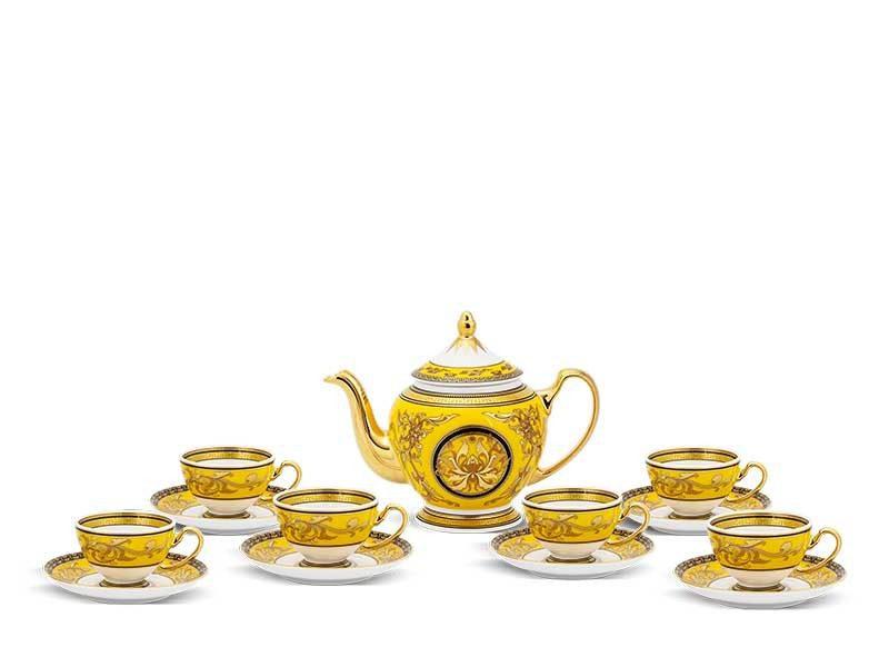 Bộ trà Minh Long Hoàng Cung Thiên Hương (Vàng) 0.8L