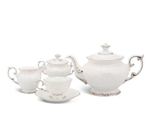 Bộ trà Minh Long Đài Các Chỉ Bạch Kim 1.3L