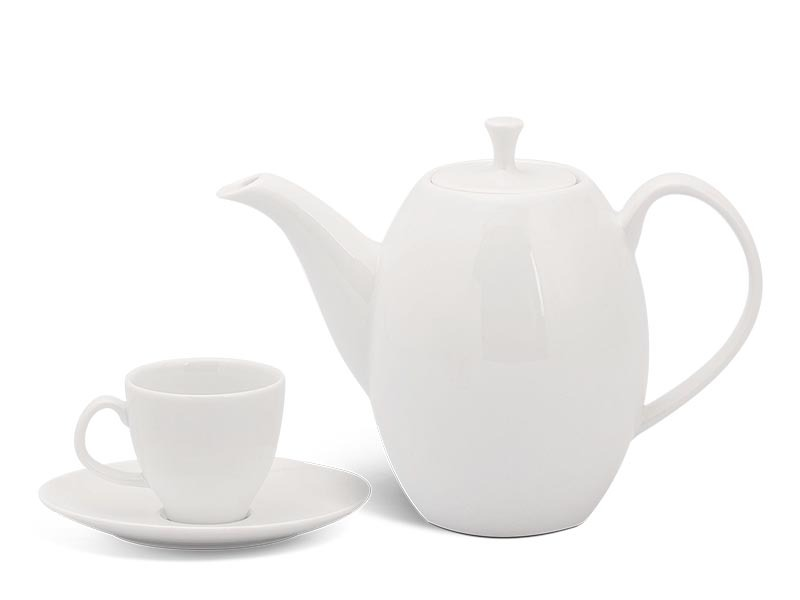 Bộ trà Minh Long Anna cao Trắng Ngà 0.47L