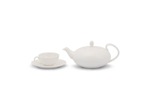 Bộ trà Minh Long, Bộ trà Minh Long Elip Anna Trắng Ngà