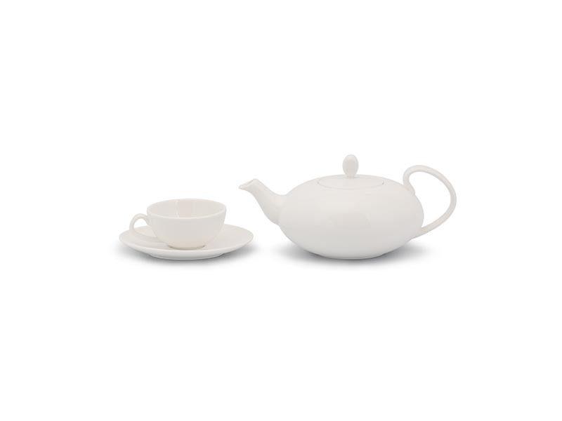Bộ trà Minh Long Elip Anna Trắng Ngà 0.47L