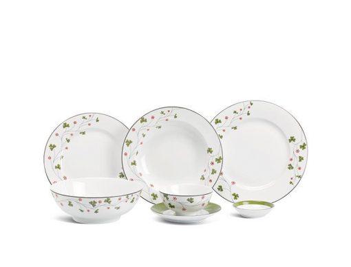 Bộ bàn ăn Minh Long Jasmine Hoa May Mắn - 36 sản phẩm
