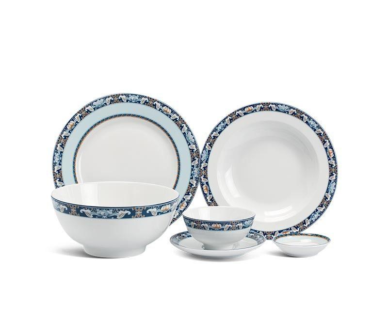 Bộ bàn ăn Minh Long Jasmine Phước Lộc Thọ – 36 sản phẩm
