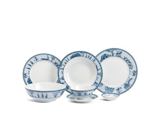 Bộ bàn ăn Minh Long Jasmine Thôn Dã - 36 sản phẩm